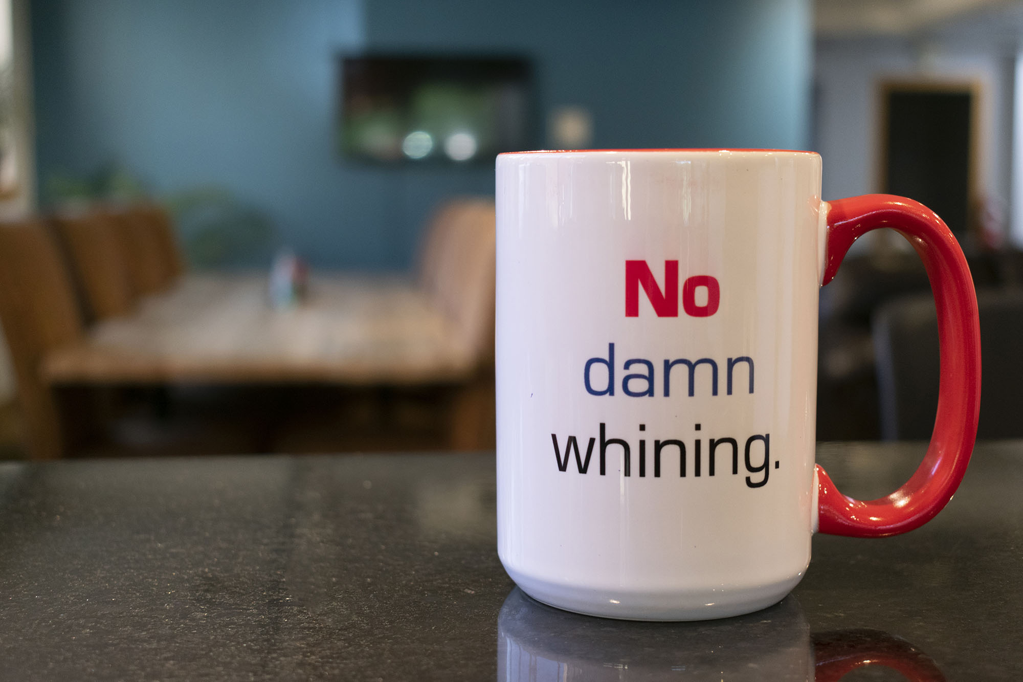 JetCo Solutions Mug That Has Company Value: No Damn Whining